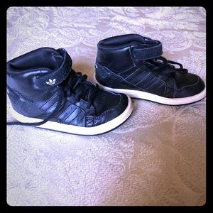 Other - Adidas children's leather high top tennis shoes